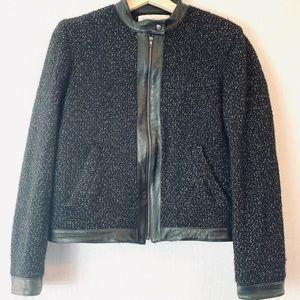 Jones New York Black Tweed Jacket Size 10